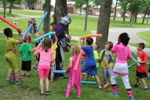 Kids test their superhero skills at Kids in Capes, one of our themed runs & walks.