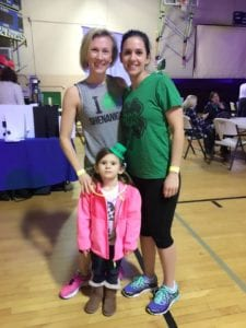 Two friends at the Glow Irish 1, 2 & 3 Miler.