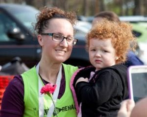 One of the many moms at the Run Like a Mother 5K.